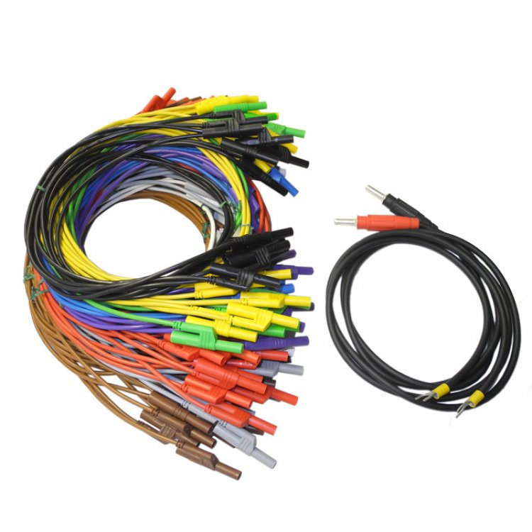 Set of safety connecting cables 4mm T-Varia