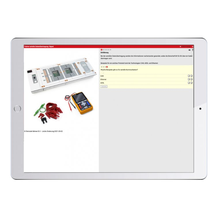 Digital work orders Serial communication Trainer