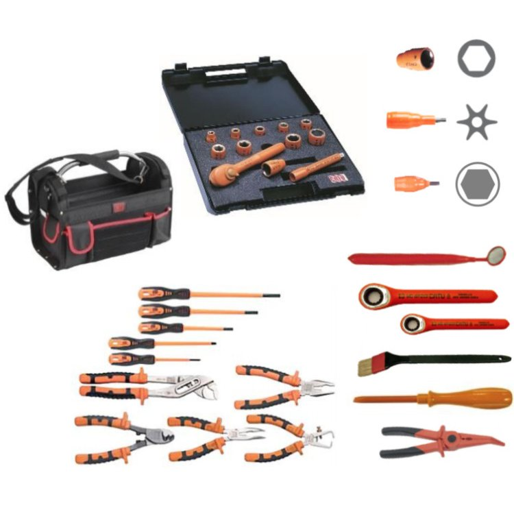 Set of insulated tools for Live Maintenance