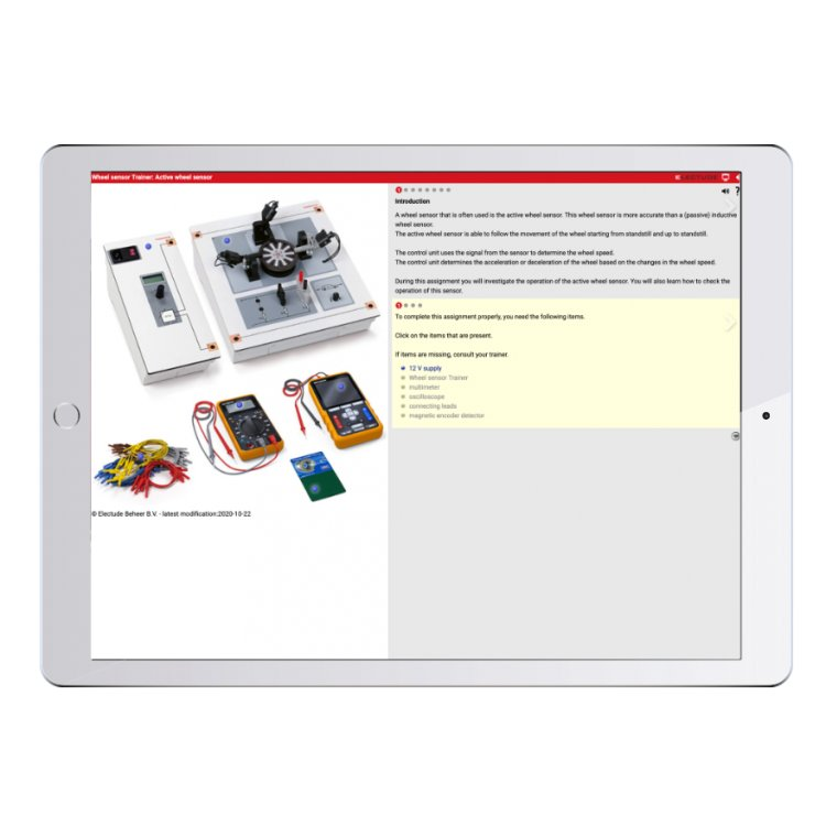 Digital work orders Wheel Sensor Trainer