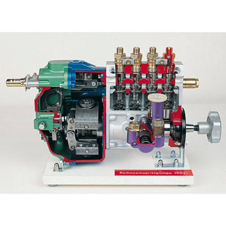 In-line injection pump with RQV flyweight governor