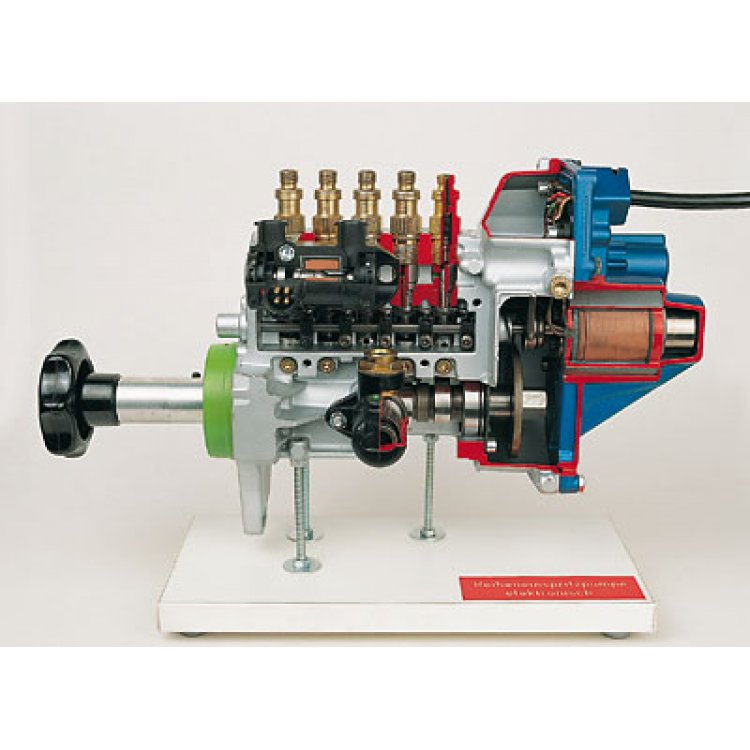 In-line type injection pump with electronic control