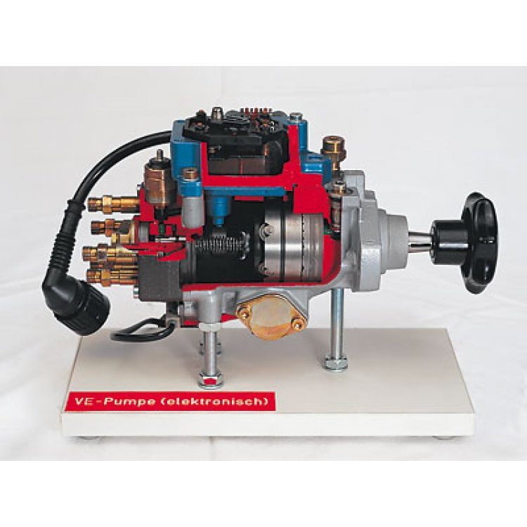 Distributor-type fuel-injection pump with electronic governor